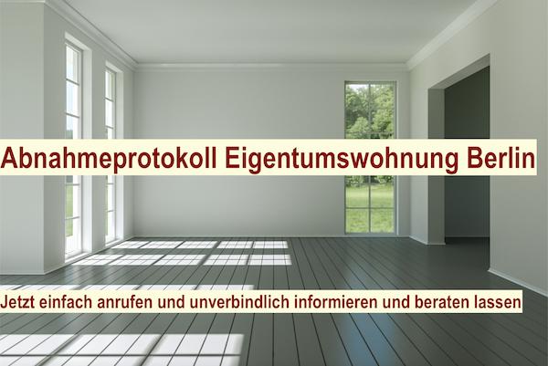 Abnahmeprotokoll Eigentumswohnung Berlin - Bauabnahme